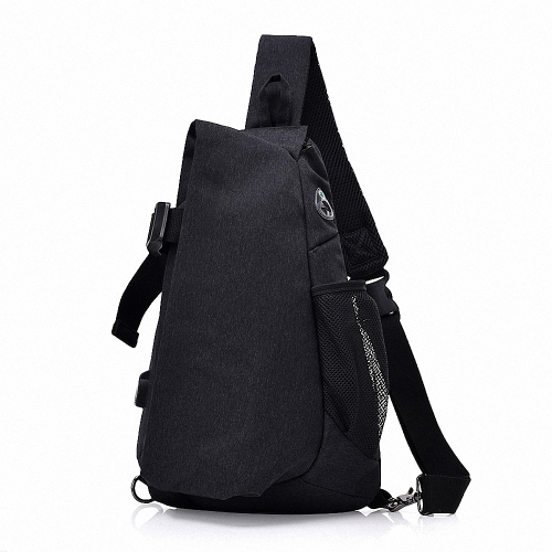 Lixada Men Chest Bags Casual Chest Pack Anti Theft Sling Crossbody Bags Messenger Bag Shoulder Bag