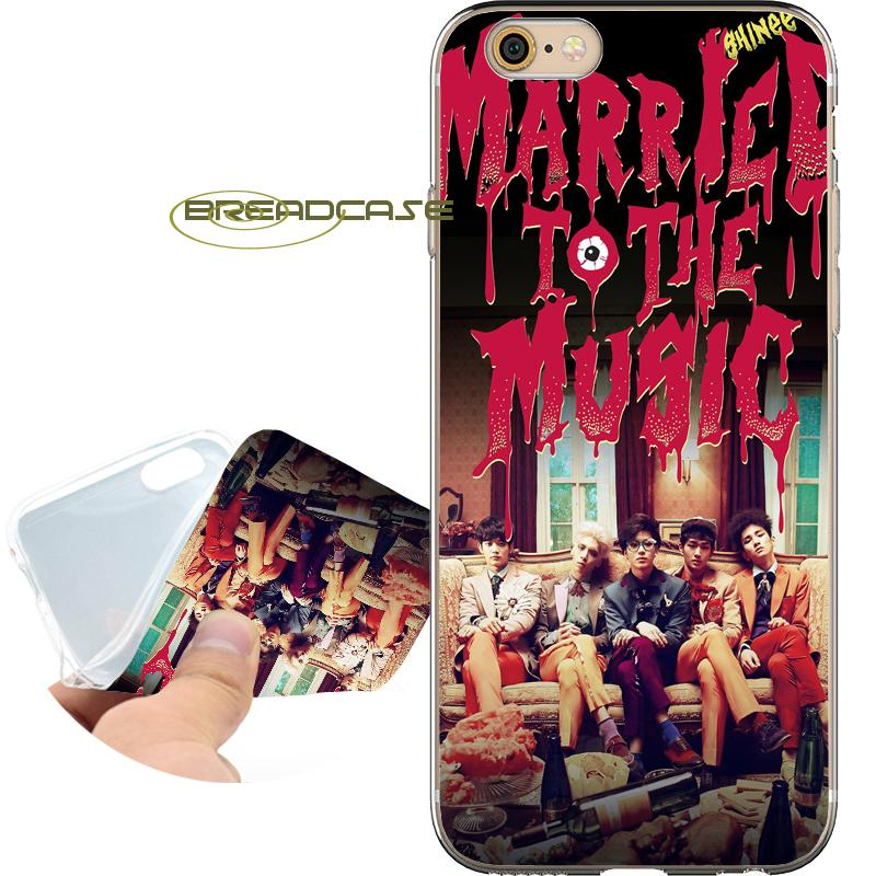 Fundas SHINee KPOP Boy Cases for iPhone 10 X 7 8 6S 6 Plus 5S 5 SE 5C 4S 4 iPod Touch 6 5 Clear Soft TPU Silicone Cover.