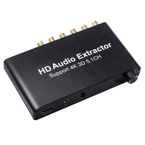HD Audio Converter SPDIF w / 3.5mm Stereo HD Audio Adapter HD Extractor Soporte 3D 4K