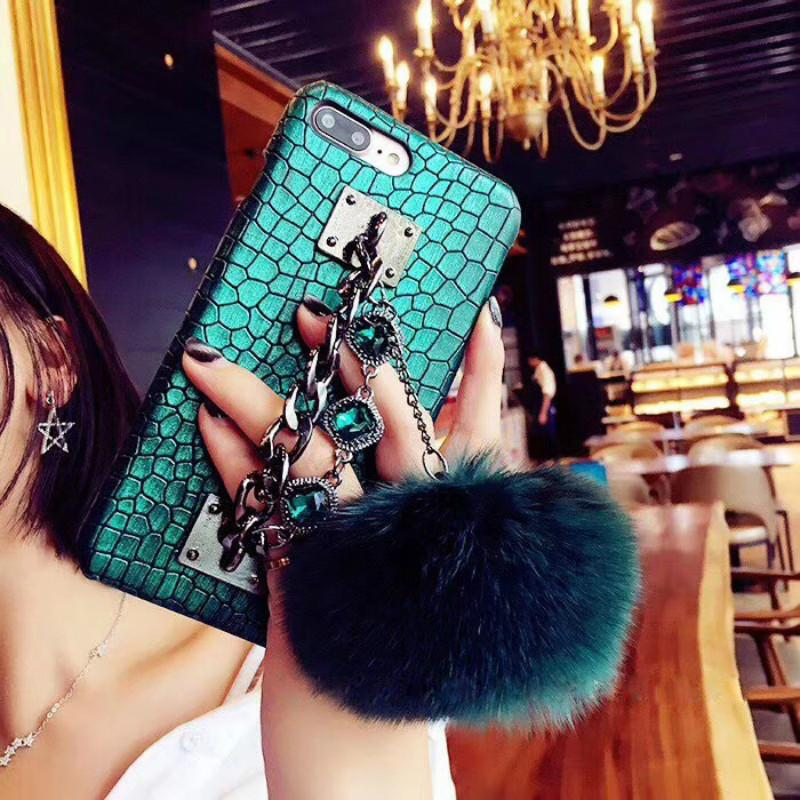 Women's New Fashion Phone Case for IPhone X 6/6S 6plus/6S Plus 7/8 7plus/8plus with Diamond Drop Protection Mobile Phone Case 2 Styles