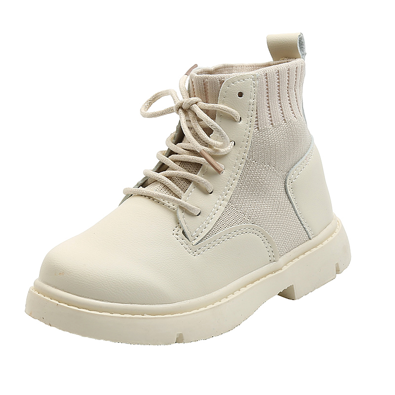 Toddler / Kid Girl Solid Lace-up Casual Boots
