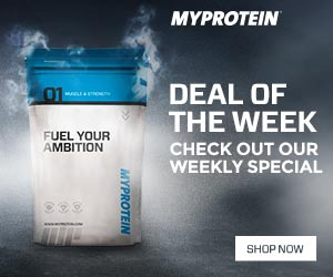 Weekly special deals from MyProtein! Get your best price today.
